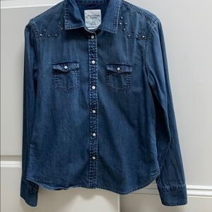 American Eagle Jean Shirt - Studded